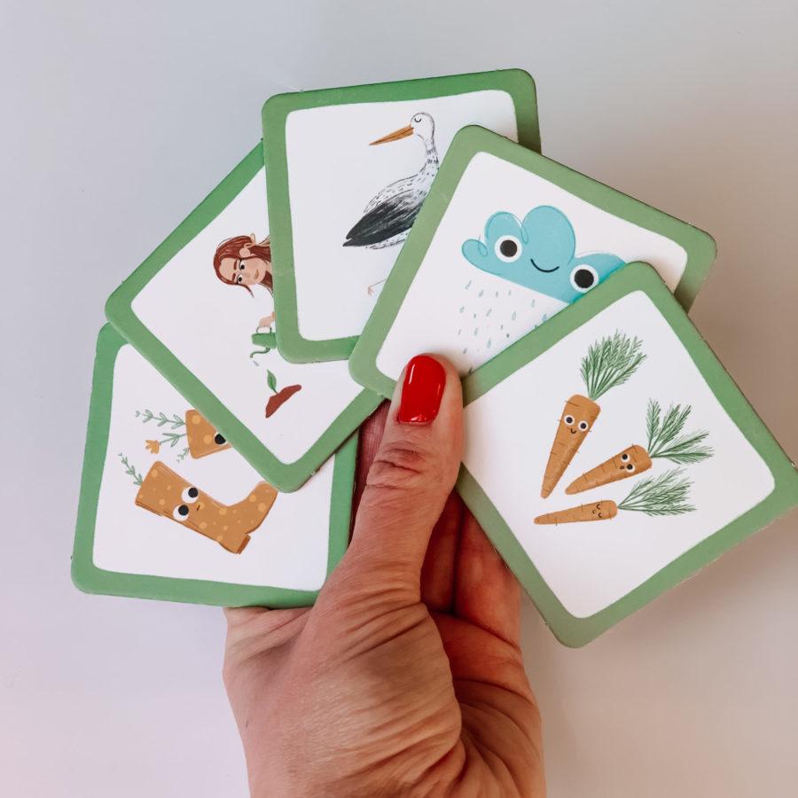 Karty gry pamięciowej memory Wspomagajki
