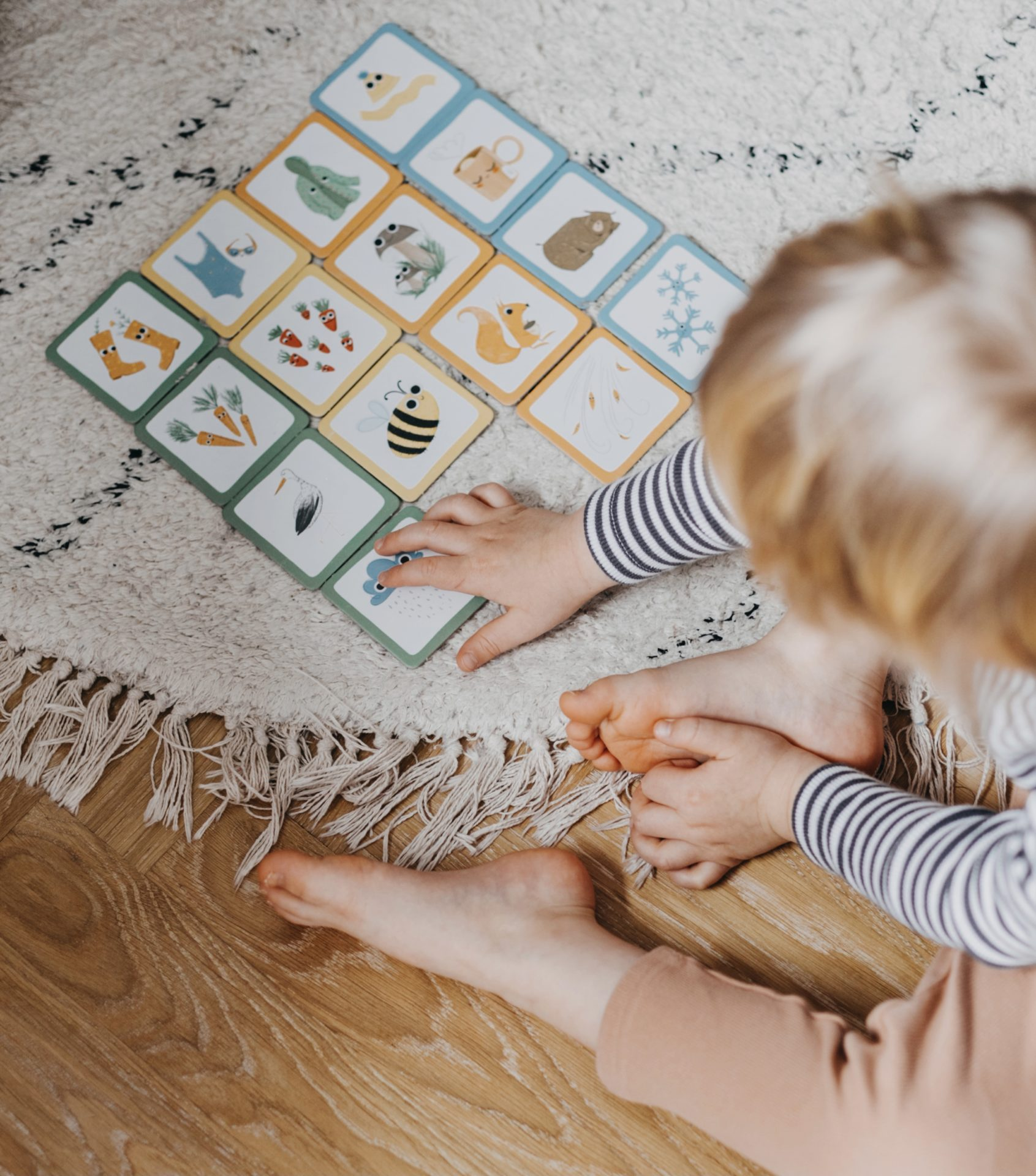 Dziecko kategoryzuje obrazki